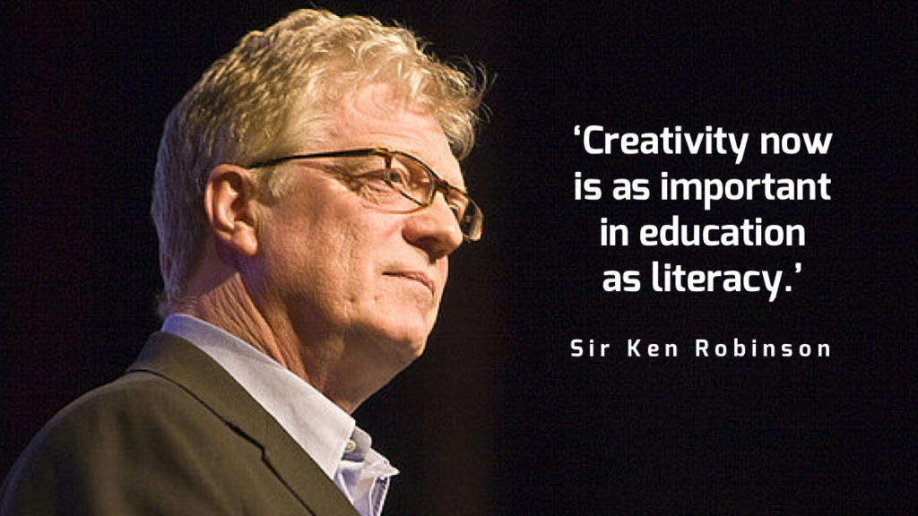 Creativity now is as important in education as literacy.